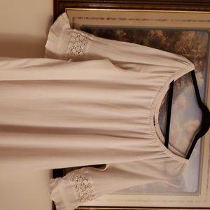 Lane Bryant Dresses - White linen dress from Lane Bryant